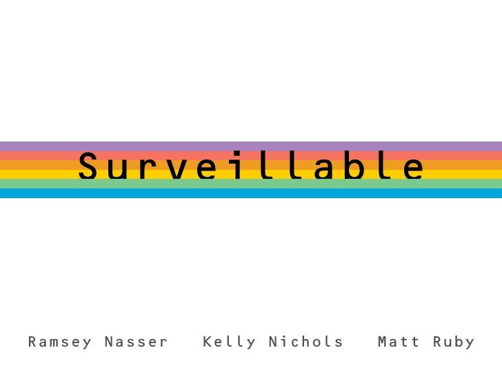 SurveillableRamsey Nasser   Kelly Nichols   Matt Ruby