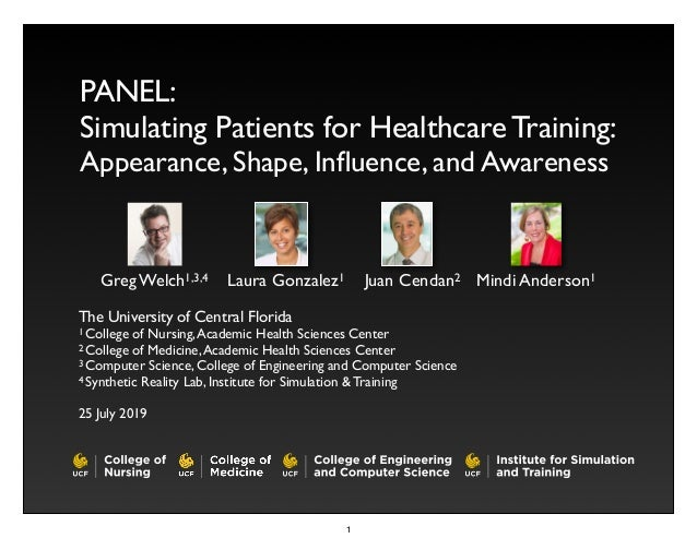 Simulating Patients for Healthcare Training: Appearance