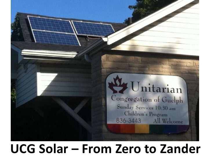 UCG Solar – From Zero to Zander