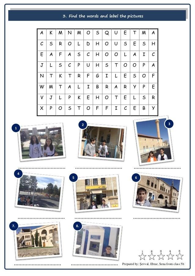 My Town Uchisar Worksheet