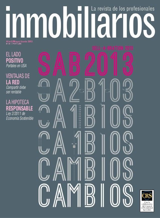 Revista inmobiliarios de uci abril junio 2013 cambio generacional - Samira inmobiliarios ...