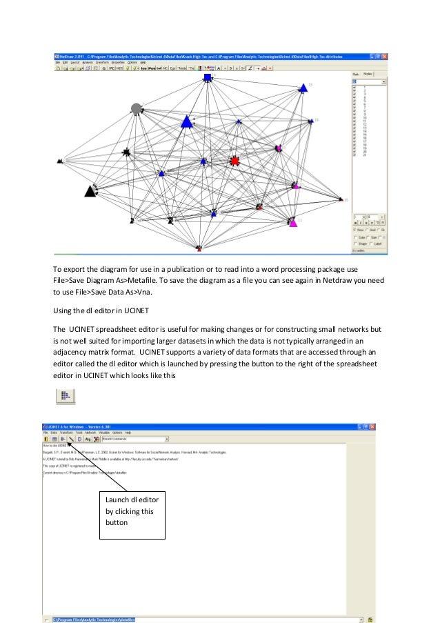 社會網絡分析UCINET Quick Start Guide