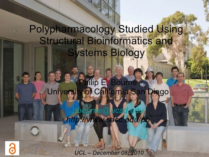 Polypharmacology Studied Using Structural Bioinformatics and Systems Biology Philip E. Bourne University of California San...