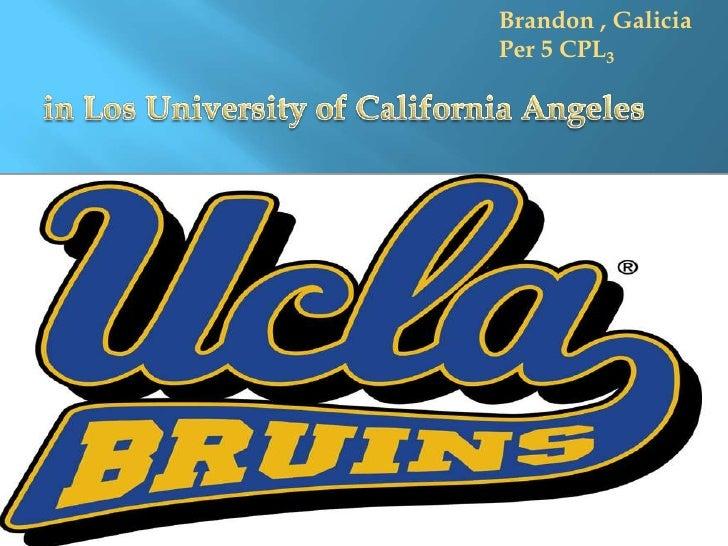 Brandon , Galicia<br />Per 5 CPL3<br />in Los University of California Angeles <br />