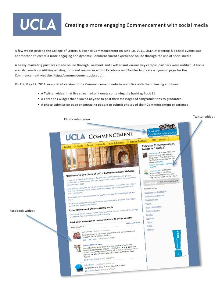Creating a more engaging Commencement with social media     A few weeks prior to the College ...