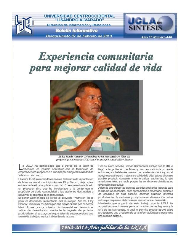 """UNIVERSIDAD CENTROCCIDENTAL                         """"LISANDRO ALVARADO""""                        Dirección de Información y ..."""