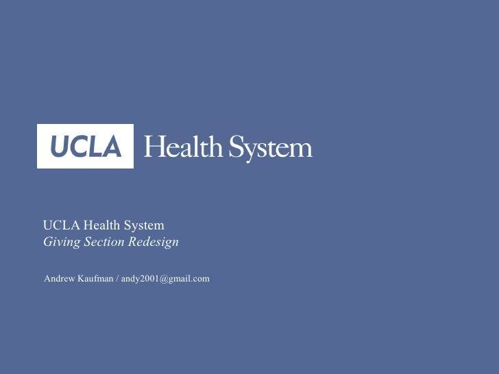 Ucla health giving redesign