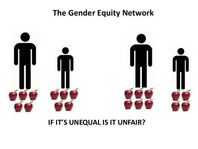 IF IT'S UNEQUAL IS IT UNFAIR? The Gender Equity Network