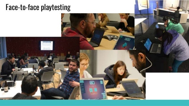 Face-to-face playtesting