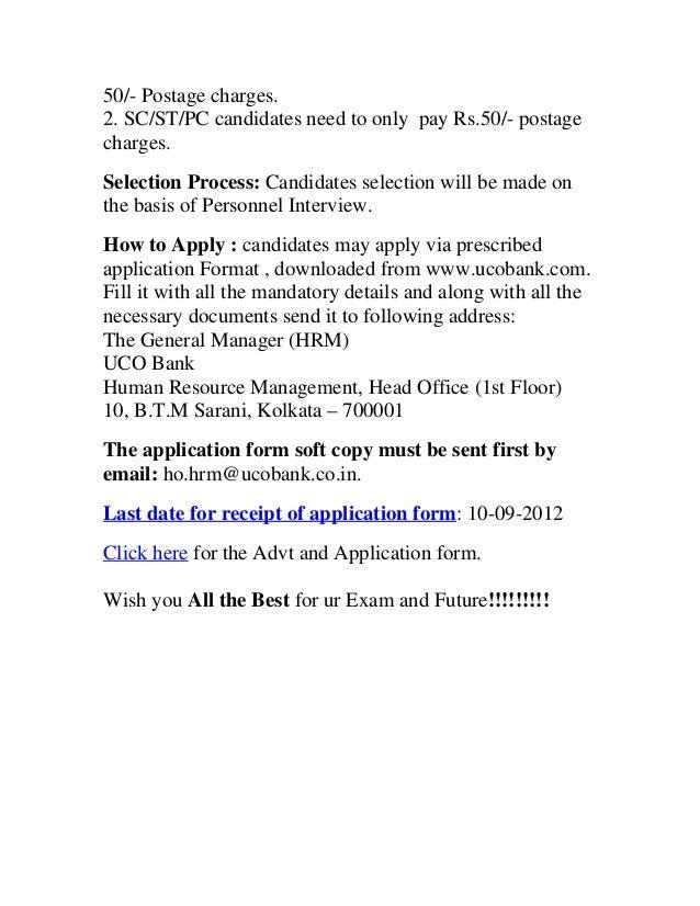 uco bank exam form 2014