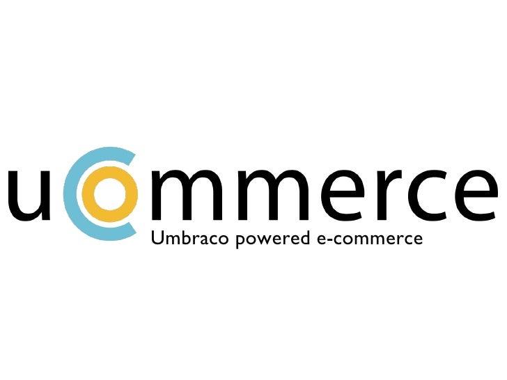 Umbraco powered e-commerce