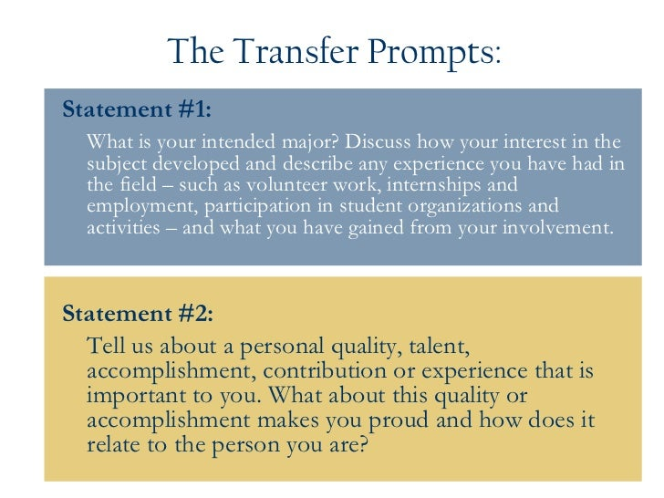uc personal statement webinar 12 the transfer prompts statement