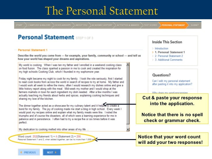 word limit on uc personal statement