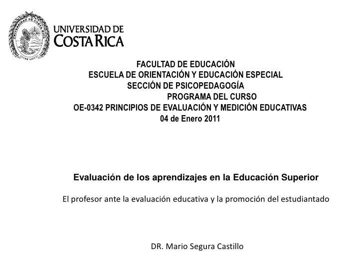 FACULTAD DE EDUCACIÓN ESCUELA DE ORIENTACIÓN Y EDUCACIÓN ESPECIAL          SECCIÓN DE PSICOPEDAGOGÍA                      ...