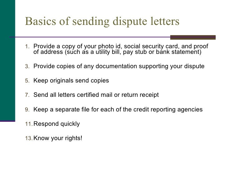 Understanding your credit report and score 26 basics of sending dispute letters spiritdancerdesigns Image collections