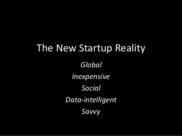The end of the (startup) world as we know it Slide 2