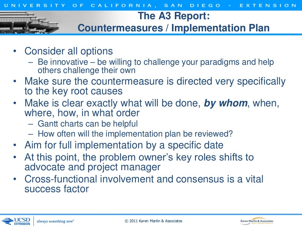 The A3 Report: Countermeasures
