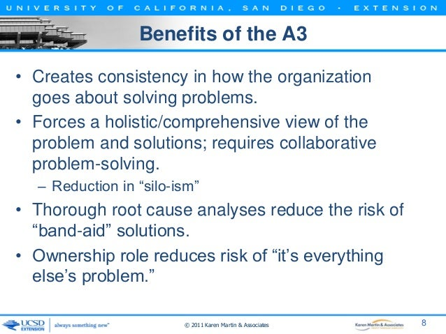 Ucsd Class A Management And Root Cause Analysis on A3 Problem Solving Examples