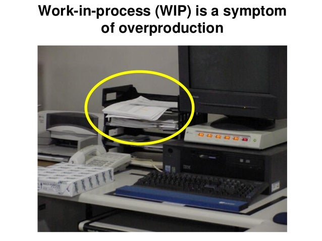 Work-in-process (WIP) is a symptom of overproduction