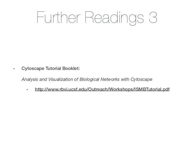 Quick Introduction to Cytoscape for Undergraduates