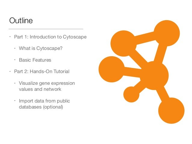 Outline • Part 1: Introduction to Cytoscape  • What is Cytoscape?  • Basic Features  • Part 2: Hands-On Tutorial  • Visual...