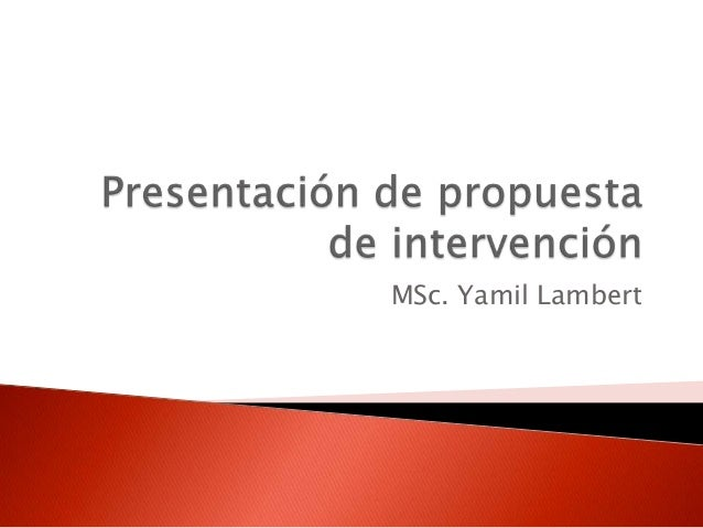 MSc. Yamil Lambert