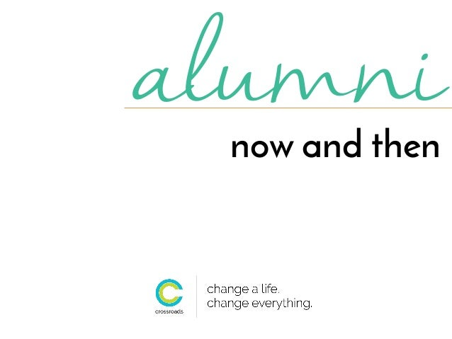 alumni now and then