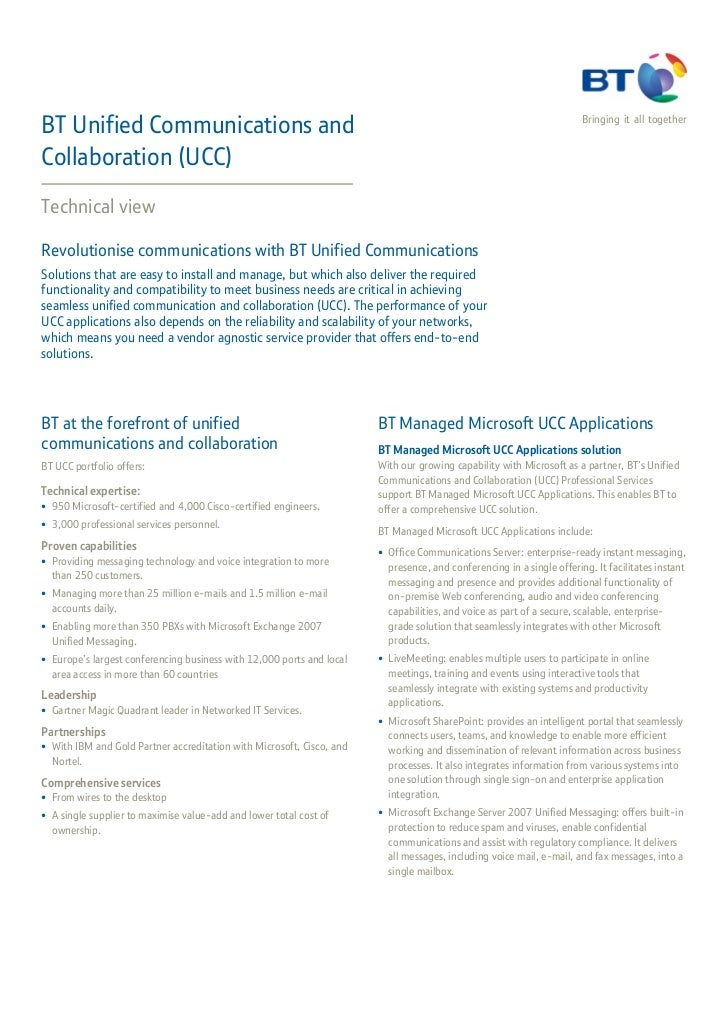 BT Unified Communications and                                                                                          Bri...
