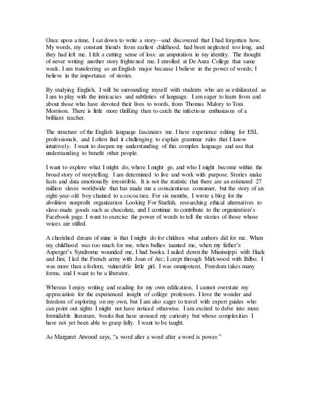 uc personal statements 2012