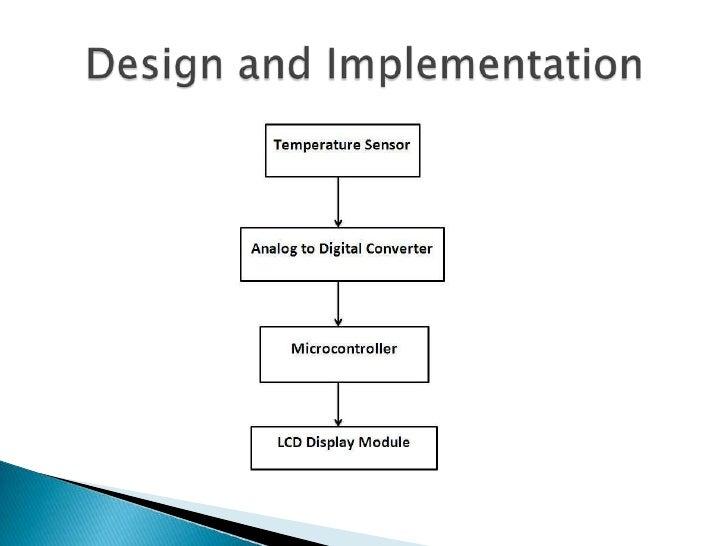 microcontroller based temperature sensor