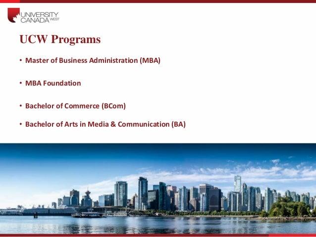 University Canada West Presentation 271014 V1