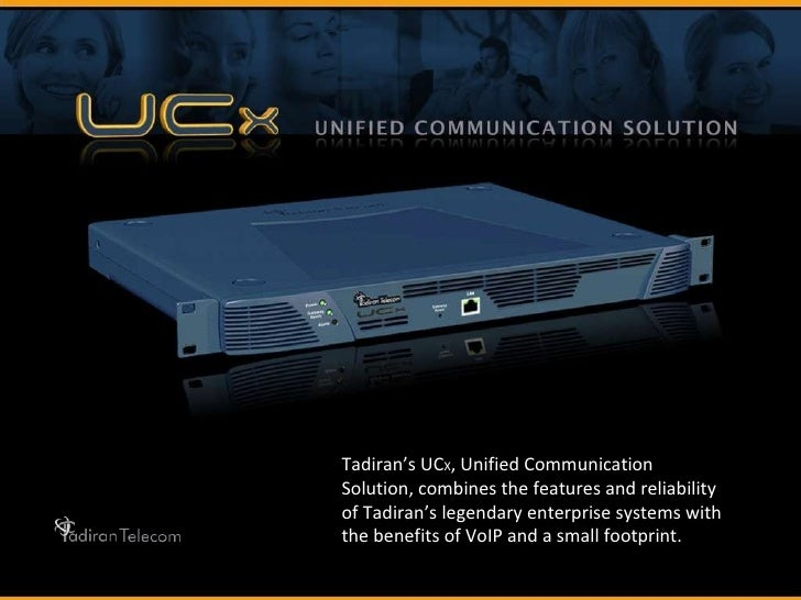 Tadiran's UC X , Unified Communication Solution, combines the features and reliability of Tadiran's legendary enterprise s...