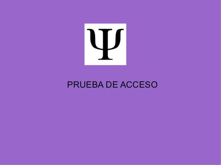 PRUEBA DE ACCESO