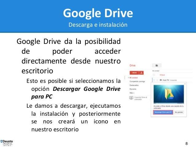 descargar google drive para windows