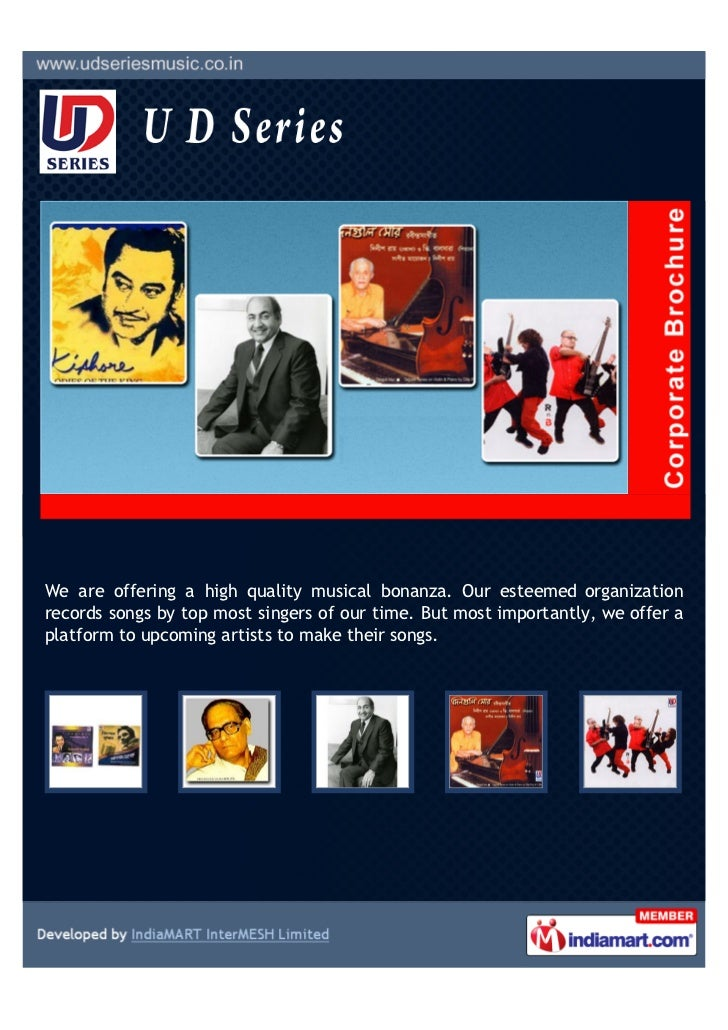We are offering a high quality musical bonanza. Our esteemed organizationrecords songs by top most singers of our time. Bu...