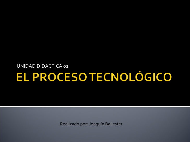 UNIDAD DIDÁCTICA 01 Realizado por: Joaquín Ballester