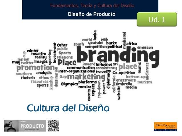 Fundamentos, Teoría y Cultura del Diseño  Diseño de Producto  Cultura del Diseño  Ud. 1