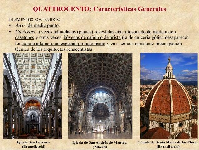 Ud12 renacimiento italiano arquitectura Arquitectura quattrocento caracteristicas