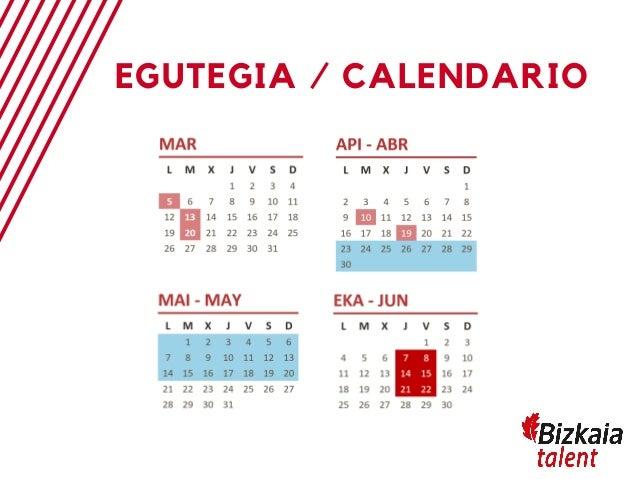 Calendario Deusto.Deusto Bizkaia Talentia 2019