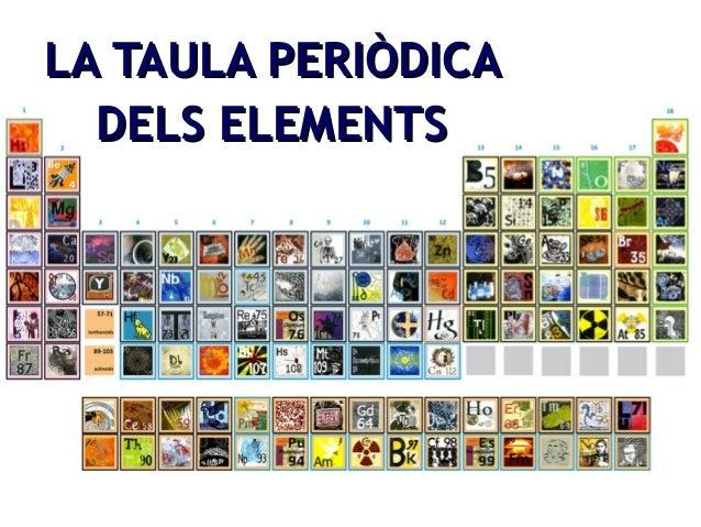 LLAA TTAAUULLAA PPEERRIIÒÒDDIICCAA  DDEELLSS EELLEEMMEENNTTSS