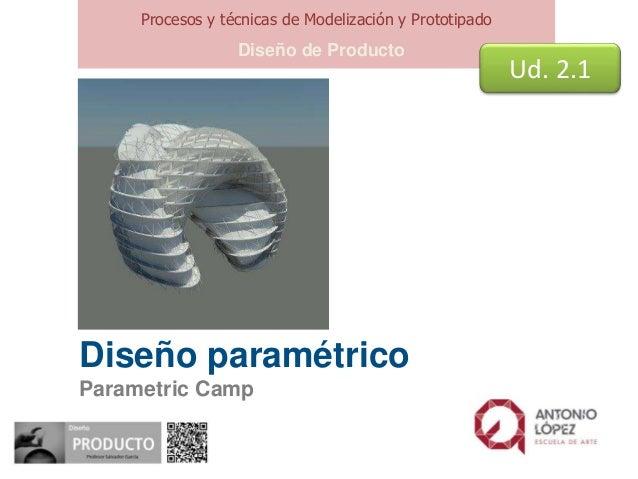 Diseño paramétrico Parametric Camp Procesos y técnicas de Modelización y Prototipado Diseño de Producto Ud. 2.1