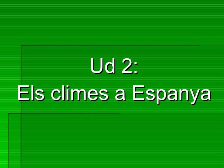Ud 2:Els climes a Espanya