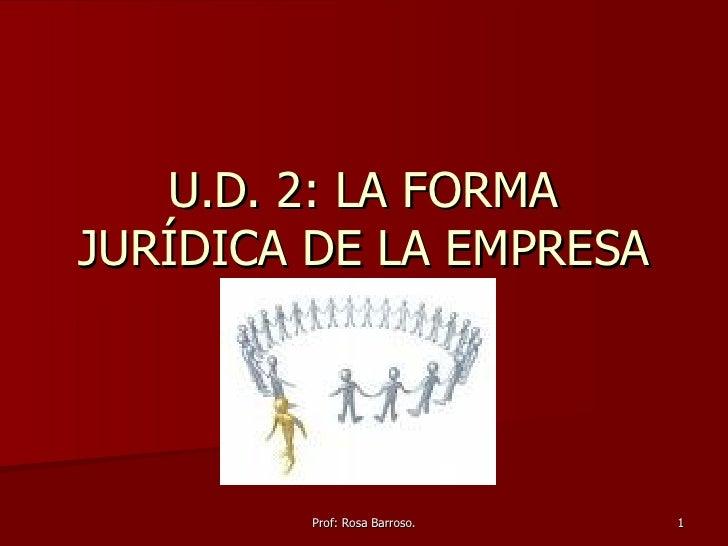 U.D. 2: LA FORMA JURÍDICA DE LA EMPRESA
