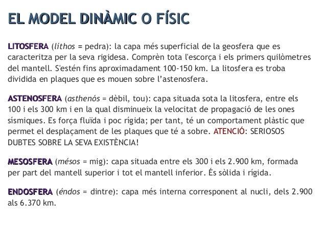 LA LITOSFERA (model dinàmic)LA LITOSFERA (model dinàmic)