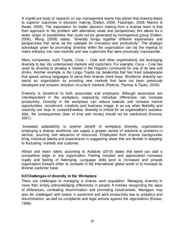 Diversity management essay