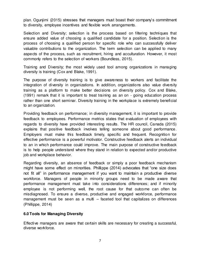 essay on diversity in the workplace aiu final   diversity recruitment 9