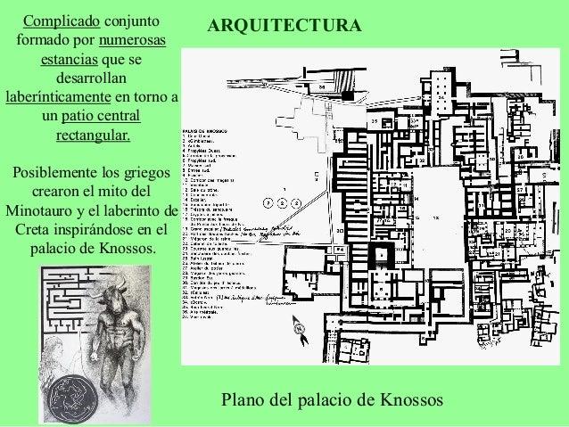 ARQUITECTURA  Reconstrucción ideal del  palacio de Knossos
