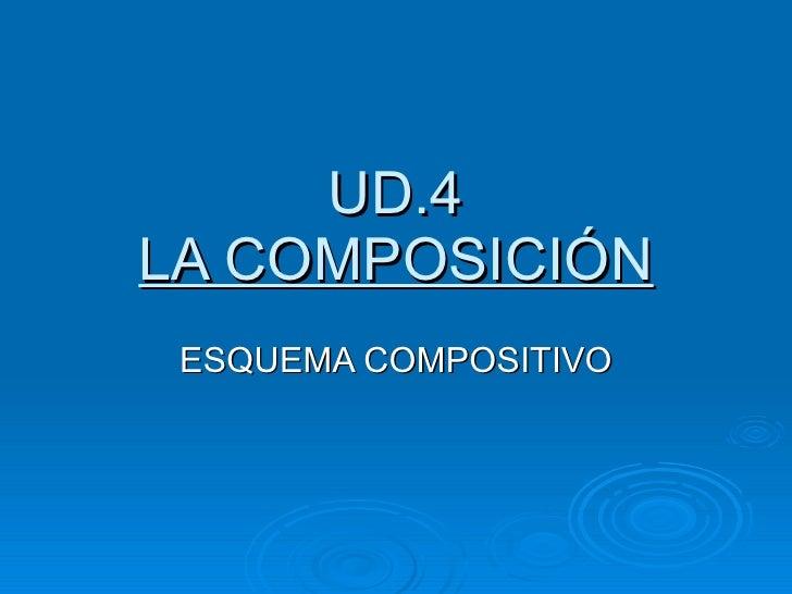 UD.4 LA COMPOSICIÓN ESQUEMA COMPOSITIVO