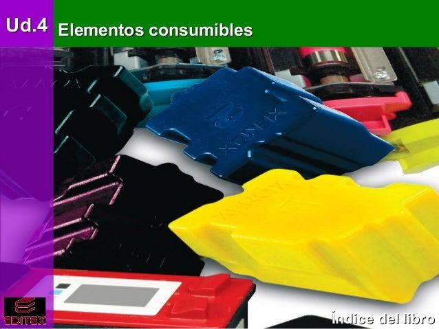 Ud.4 Elementos básicos eléctricos y electrónicos     Elementos consumibles                                      Índice del...