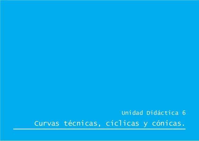 Unidad Didáctica 6 Curvas técnicas, cíclicas y cónicas.
